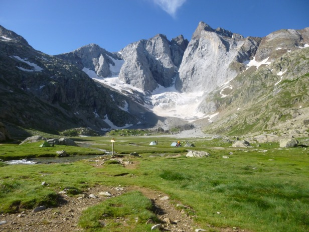 Pyrenees mountains, camping