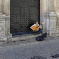 Busker, Granada, Andalusia, Spain